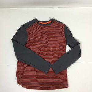 Banana Republic gray orange stripe thermal shirt
